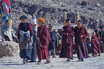 Monks in front of Drepung Monastery, Tibet 1993