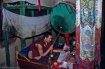Monk in Samye Monastery, Tibet 1993