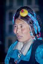 Woman in Tashilhuenpo Monastery, Shigatse, Tibet 1993