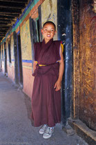 Young monk in Samye Monastery, Tibet 1993
