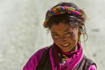 Portrait of a young woman in Old Tingri, Tibet 1993