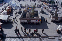Barkhor Square in front of Jokhang, Lhasa, Tibet 1993