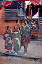 Family in Tashilhuenpo Monastery, Shigatse, Tibet 1993