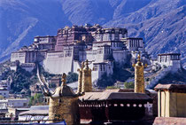 Potala Palace, view from Jokhang Monastery, Lhasa, Tibet 1993
