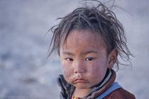 Little boy in Old Tingri, Tibet 1993