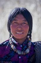 Young woman, Tashilhuenpo Monastery, Tibet 1993