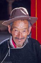 Old man in Jokhang Monastery, Lhasa, Tibet 1993