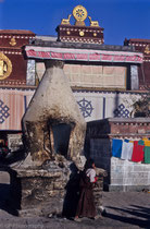 Barkhor Square in front of Jokhang Monastery, Lhasa, Tibet 1993