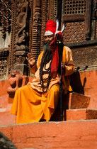 Sadhu, Durbar square, Kathmandu, Nepal 1993
