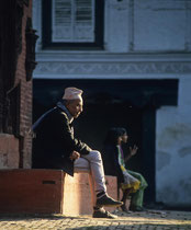 Old man, Durbar square, Kathmandu, Nepal 1993