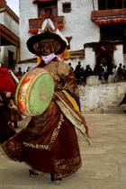 Dancer at a festival in Karzok Monastery, Tso Moriri Lake, Ladakh 1994