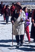 Man with prayer beads, Drepung Monastery, Tibet 1993