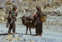 Nomads in Old Tingri, Tibet 1993