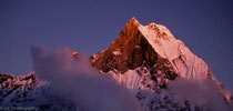 Annapurna Base Camp - Machapuchare in the evening light - Nepal 1988