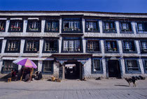 Tibetan house in Lhasa, Tibet 1993