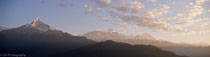Panoramic view from Poon Hill - Machapuchare on the left - Nepal 1988