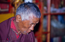 Old monk in Tashilhuenpo Monastery, Shigatse Tibet 1993