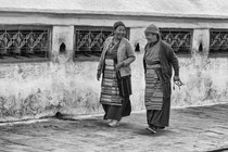 Tibetan women walking around the great stupa of Boudhanath, Nepal 2013