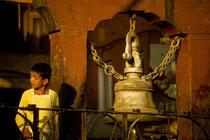 Young boy in a temple in Kathmandu, Nepal 1993