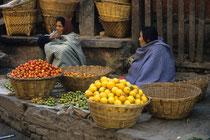 Women selling vegetables, Durbar square, Kathmandu, Nepal 1993