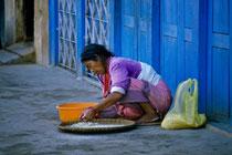 Old woman, Boudhanath, Nepal 1989