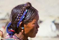 Portrait of a woman in Old Tingri, Tibet 1993