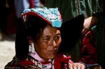 Woman wearing a Perak, Festival in Phyang Monastery, Ladakh 1994