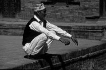 Man in the streets of Kathmandu, Nepal 1993