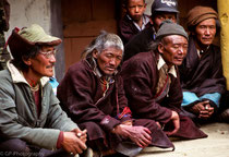 Spectators at a festival in Karzok Monastery, Tso Moriri Lake, Ladakh 1994