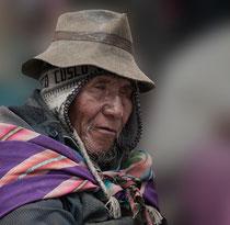 Mann in Puno, Peru