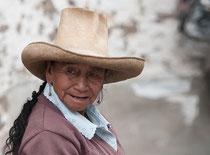 Frau in Cajamarca, Nordwest-Peru