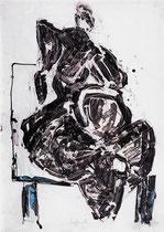 """""""Sitzende"""" 1993,Tusche, 100x70cm"""
