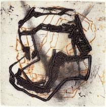 """""""Labyrinth II"""" 1995, Kaltnadelradierung, Auflage 10 Ex.,10x10cm"""
