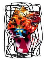 """""""Medusa II"""" 2000, 50x120cm"""