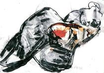 """""""Akt"""" 1992, Tusche, 50x60cm"""