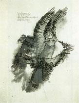 """""""5 Sinne"""" (K.Marx) 1981, Siebdruck, Auflage 5 Exemplare 53x45cm"""