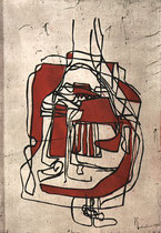 """Hommage a Picasso II"" 1998, Farbradierung, 43x29,5cm"
