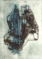 """""""Fremdheit"""" 1996, Kaltnadelradierung, Auflage 10 Ex.,46,5x33cm"""