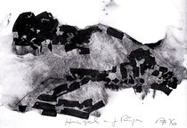 """""""Hügel auf Rügen"""" 1996, Tusche-Lavage, 55x80cm"""
