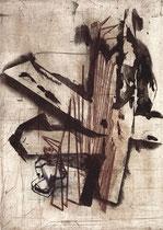 """""""Überwindung"""" 1996, Kaltnadelradierung, Auflage 5 Ex.,46x33cm"""