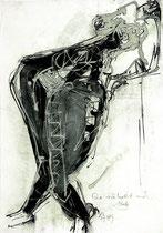 """""""Akt"""" 1985, Tusche, Lavage, 44,5x30,5cm"""
