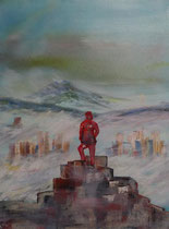 Thomas Walther: Urenkel über dem Nebelmeer, 60x80 cm, auf Keilrahmen