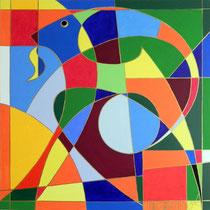 Steinbock - Acryl 100x100 cm