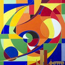 Löwe - Acryl 100x100cm