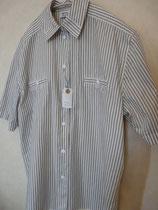 シンプルな形のストライプのチロルシャツ thanks sold