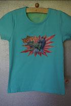 T'shirt dino, maat 86/92, 98/104, 110/116, 122/128, 134/140. Prijs 12,95 excl. verzendkosten