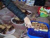 waren all die Leckereien und vor allem Inges leckerer Kuchen heiß begehrt.