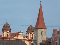 Blick zur Basilika St. Vitrus