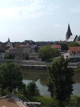 Blick von der Bergstadt auf die Talstadt