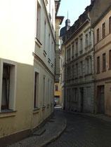 Straße in Bernburg Bergstadt